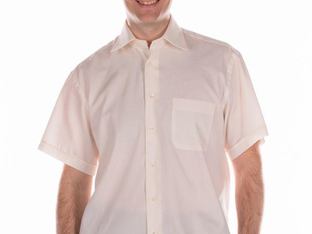 Heren Overhemd Met Drukknopen.Heren Overhemd Korte Mouw Overslag Achterkant Zorgvrij